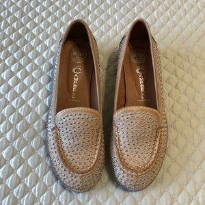 Jeffrey Campbell Silver Studded Tan Loafers,sz 9